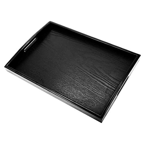 Familamb Serving Tray With Handles Wooden Tray Food & Bed Rectangular Plate Tray 15.75