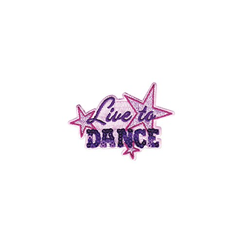Tervis 1232522 Live to Dance Sequins Tumbler with Emblem and Purple Lid 24oz Water Bottle, Clear by Tervis (Image #1)