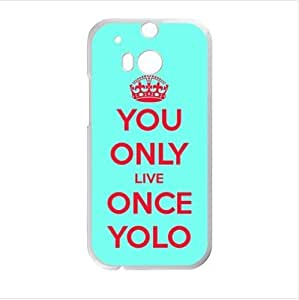 Best Custom Case ,YOLO(You Only Live Once) HTC One M8 (Laser Technology) Case, Cell Phone Cover