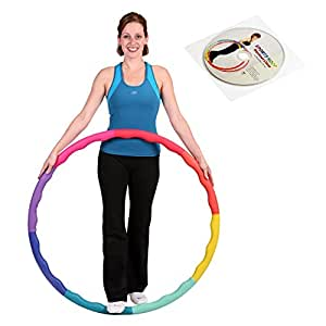 Weight Loss Sports Hoop® Series: Acu Hoop® 3M - 1.5kg (97 cm wide) Medium, Weighted Fitness Exercise Hula Hoop with Wavy Ridges(46 minutes Workout and Lesson DVD Included)