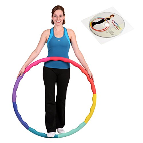 Sports Hoop Weight Loss Series: ACU Hoop 3M - 3.2lb (38 inches Wide) Medium, Weighted Fitness Exercise Hula Hoop with Wavy Ridges(46 Minutes Workout and Lesson DVD Included) ()