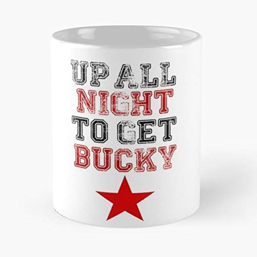 Bucky Barnes Winter Soldier Up All Night To Get Lucky - Coffee Mug 11 Oz Funny Gift -  Gooemlor Stor