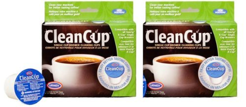 Clean Cup Single Cup Brewing Cleaning Cups, 0.25-Ounce, Brown/Green, 5-Count (Set of 2) by Clean Cup