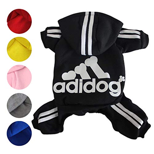 Zoyee Pet Clothes for Small Dogs Cats Puppy Hoodies Winter Sweetshirt Dog Outfits,Black M