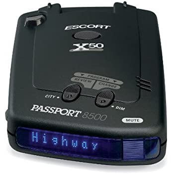 escort passport 8500x50 black radar detector blue display cell phones accessories. Black Bedroom Furniture Sets. Home Design Ideas