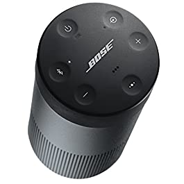 The Bose SoundLink Revolve, the Portable Bluetooth Speaker with 360 Wireless Surround Sound, Triple Black