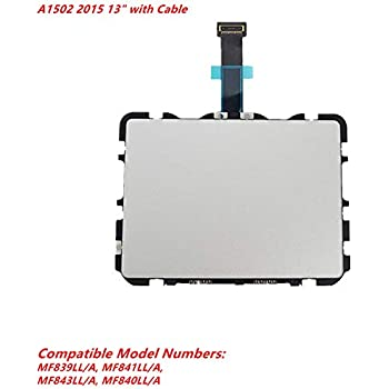 JANRI Replacement Trackpad Touchpad Without Flex Cable for MacBook Retina MBPR 13 13.3 inch MacbookPro12,1 Early A1502 2015 MF841LL//A MF839LL//A MF843LL//A MF840LL//A 810-00149-A 810-00149-04 821-00721