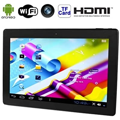 Phone tablet 13 3 Inch Tablet PC  2GB 32GB  10000mAh Battery  Google Android 7 1 RK3368 Octa Core ARM Cortex-A53 1 8GHz  HDMI  USB-Dongle  USB LAN  WiFi  BT Black   Color Black