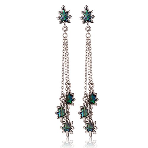 barch-genuine-shell-canada-maple-leaf-dangle-earrings-mood-jewelry