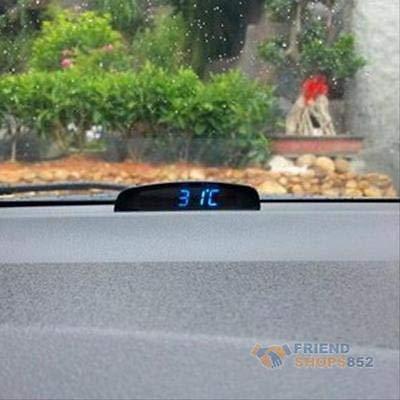 FidgetFidget Car LED Digital Electronic Time Voltage Date Thermometer Voltmeter Meter