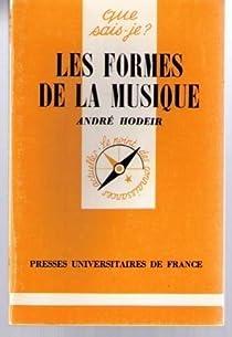 Les formes de la musique par Hodeir