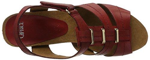 Caprice 28309, Sandalias con Cuña para Mujer Rojo (Red Nappa)