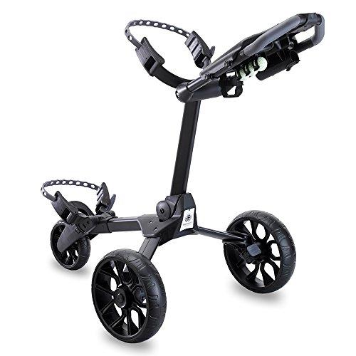 Stewart Golf Unisex's R1-S Push Trolley, Black Wheels