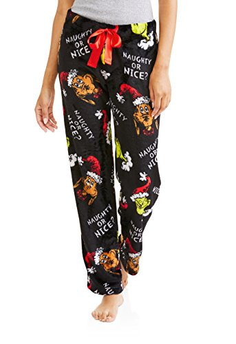 Womens Grinch Super Minky Plush Fleece Sleep Pants (Small ()