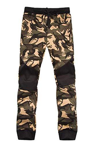 De Battercake Camuflaje Los Pantalones Colores Hombres Cómodo Braun Elástica Fit Con Ajustable Deportivos Slim Cordón Cintura Casuales qBxrqnE