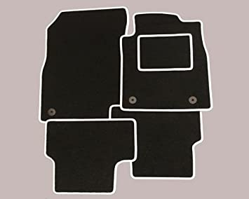 Audi A1 Tailored Car Mats In Black With White Trim Amazon Co Uk