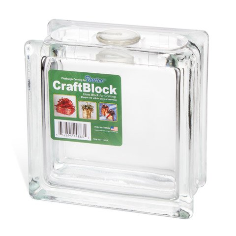 Better Crafts Glass Block with Cord Holder for Desk 6x6x3 (8 Pack) (01104180)