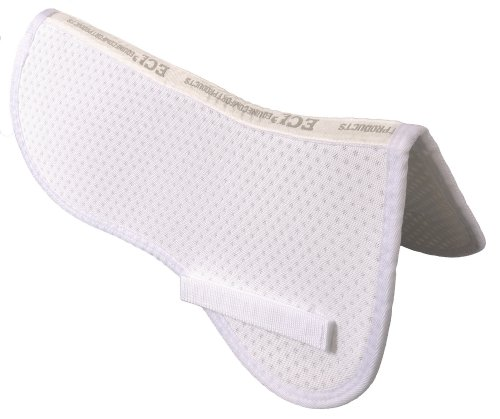 ECP Air Ride Half Saddle Pad - White White
