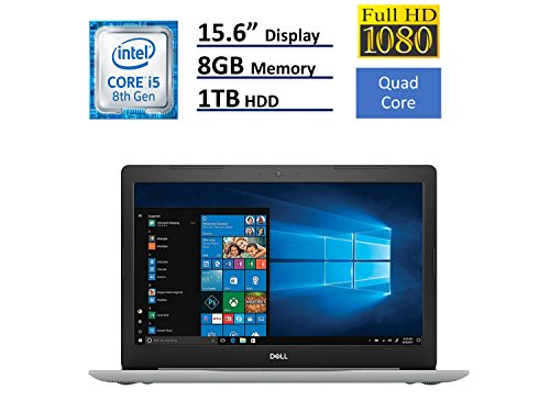 2018 Dell Inspiron 15 5000 Flagship 15.6 inch Full HD Touchscreen Backlit Keyboard Laptop PC, Intel Core i5-8250U Quad-Core, 8GB DDR4, 1TB HDD, DVD RW, Bluetooth 4.2, WIFI, Windows 10