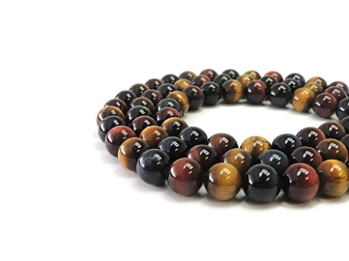 Marble Tigers Eye Round Smooth Gemstone Beads 14mm 16
