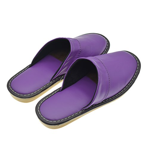 Leather Indoor Water Womens Slippers Maylian Shoes Purple House Synthetic Comfy Resistant twFWBRRq14
