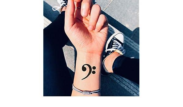 Tatuaje Temporal de Clave de fa (2 Piezas) - www.ohmytat.com ...