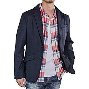 (エーエスエム) A.S.M メンズ ジャケット ソフトメルトン スタイリッシュ テーラード ジャケット セットアップ 対応 02-21-8261 48(M) ネイビー