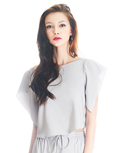 FairyLotus - Camisas - para mujer gris claro