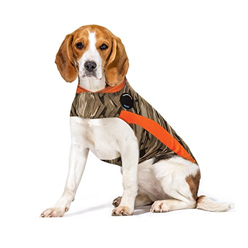 ThunderShirt Polo Dog Anxiety Jacket | Vet Recommended Calming Solution Vest for Fireworks, Thunder, Travel, & Separation | Camo, Medium