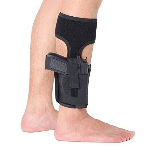 Cowboy Belt Frame (Ankle Holster for Concealed Carry, Elastic Secure Strap Leg Pistol Gun Holster ,Concealment Calf Strap Carry Leg Pocket Revolvers handgun,Women Men Fits for Small Medium Frame Pistols Revolvor,)