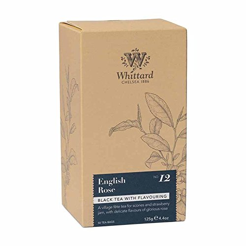 Whittard Tea English Rose 50 Traditional Teabags