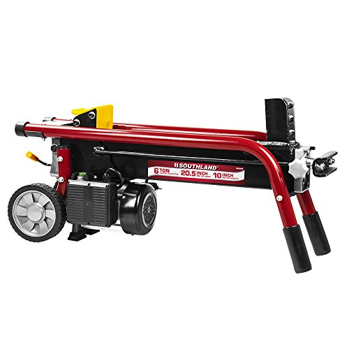 Log Splitter - Southland Outdoor Power Equipment SELS60 6 Ton Electric Log Splitter, Red