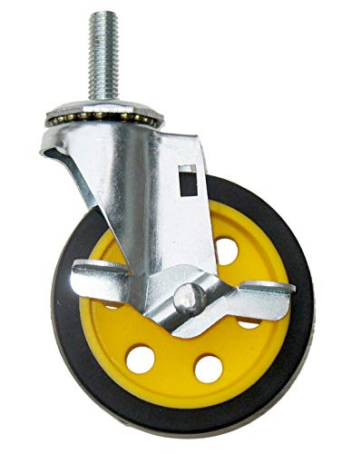 Cart Multi Pack - Rock-N-Roller R4CSTR/Y/B Replacement G-Force Caster with Brake (for R2 and R6 Multi-Carts), 4
