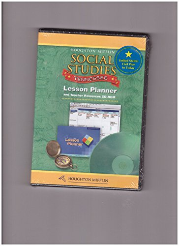 Houghton Mifflin Social Studies Tennessee: Lesson Planner Cd-Rom Package Level 5