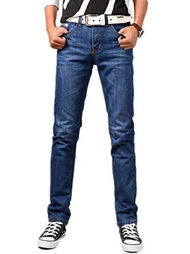 Pantalones De Mezclilla Pantalones De Tejanos Los Los Hombres De Ropa Pantalones Vaqueros Azules Chinos Ajuste Pantalones Regulares De Ocio Pantalones Vaqueros Pantalones Retro Hren Tramo Recto Des Blau-a5