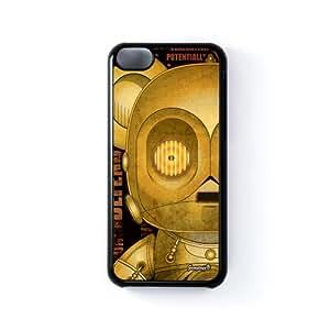 C3PO 1 Carcasa Protectora Snap-On en Plastico Negro para Apple® iPhone 5C de Gangtoyz + Se incluye un protector de pantalla transparente GRATIS