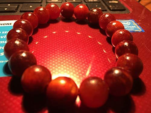 VAN Women and Men's Buddha Hematite Energy Wood Bracelet