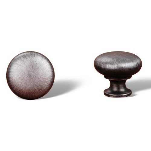 Rk International - Distressed Nickel Rki Thin Mushroom Knob (Rkick1118Dn)