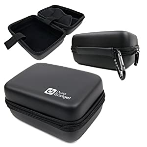 Hard Shell EVA Box Case with Carabiner Clip & Twin Zips - Compatible with the PowerLead Afun PAC002 | Afun PAC003 | Caue PC6 Action Camera / Camcorder - by DURAGADGET