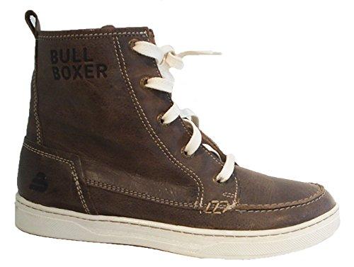 LEDER Stiefel braun BULLBOXER Reißverschluss Sneaker nqXpCYf