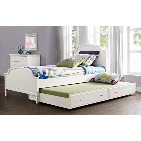Better Homes and Gardens Lillian Trundle, White (Trundle Frame Twin Bed)