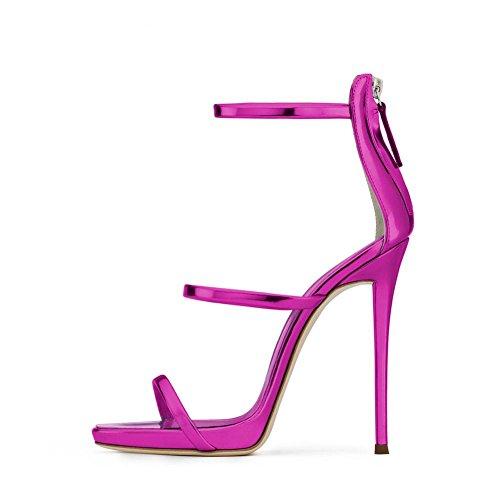 yc Taglie Scarpe Spillo Sandali Alto Forti Con Da Donna A Purple Lucido 2018 Tacco L Tacchi OdRzqwO