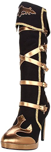 (Funtasma ARENA-2012 womens Black Microfiber-Gold Polyurethane Boots Size - 9)