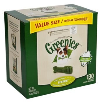 Greenies Dog Dental Chew Treats Teenie 18oz 65ct, My Pet Supplies
