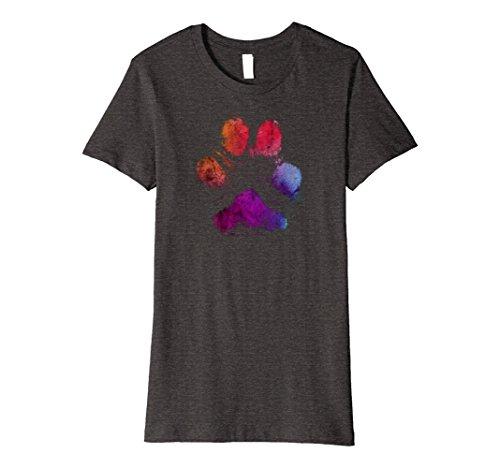 Womens Watercolor Paw Print t-shirt, distressed, rustic, ...