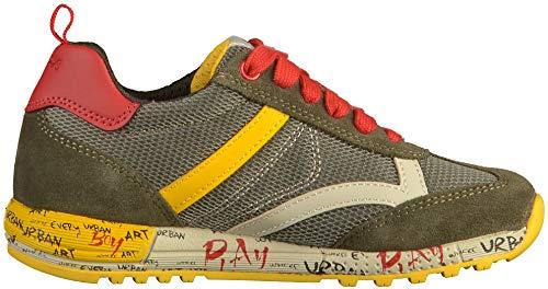 Niños C0099 Geox Zapatillas J yellow Alben military A Para Verde Bc7wzBrx