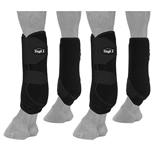 (Tough 1 Extreme Vented Sport Boots Set, Black, Medium)
