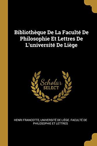 Bibliothèque De La Faculté De Philosophie Et Lettres De L'université De Liège