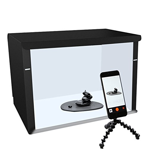 WAOBE Photo Studio 19.6'X15.7/50 * 40 Cm, Tienda De Fotografía Portátil Caja Ligera con 2Pcs 6400K LED Iluminación Caja De...