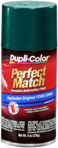 Dupli-Color EBFM03277 Deep Jewel Green Metallic Ford Exact-Match Automotive Paint - 8 oz. Aerosol - Ford Green
